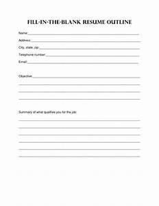 Free blank resume templates download resume sample resume for Fill in the blank resume template