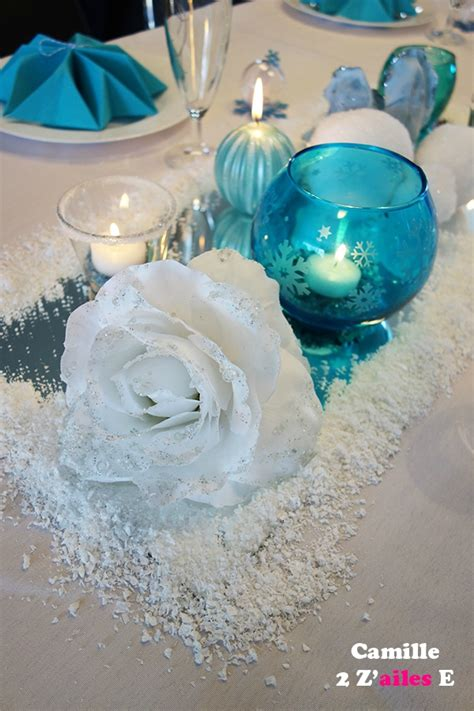 deco centre table reine neiges miroir bougies f 234 te juju