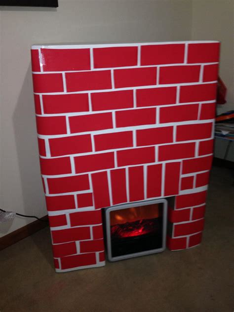 diy faux fireplace  christmas
