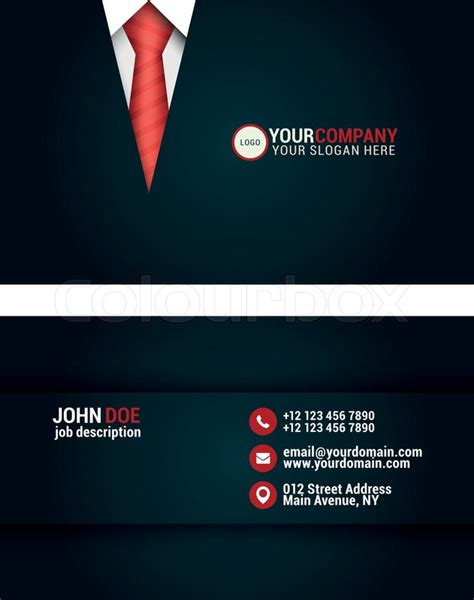elegant tailor business card design template stock
