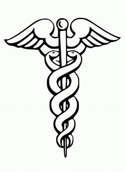 Medical Symbol Coloring Caduceus Doctor Medicine Tools