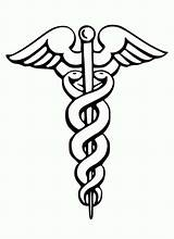 Medical Coloring Symbol Caduceus Doctor Stethoscope Pages Medicine Dr Tools Eye Template Bazile Sponsors Coloringsky sketch template