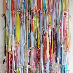 torn fabric strips for curtains by payleychelle verhot