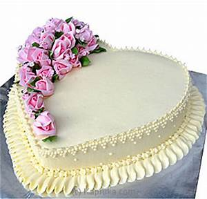 Kapruka com: Heart Shape Cake - Well Decorated (Shaped