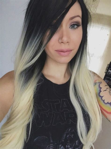 Trendy Hair Color Ideas Blonde And Black Hairstyles