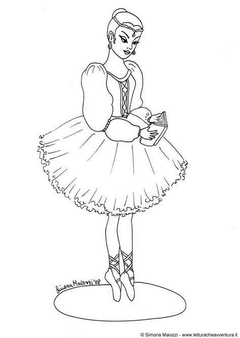 kleurplaat ballerina afb  images