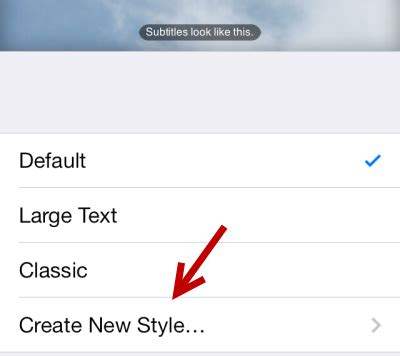 how to change font style on iphone ios increase caption and subtitle font sizes