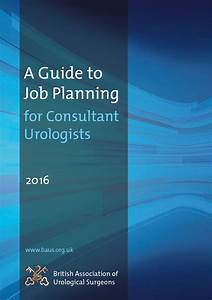 A Guide To Job Planning For Consultant Urologists