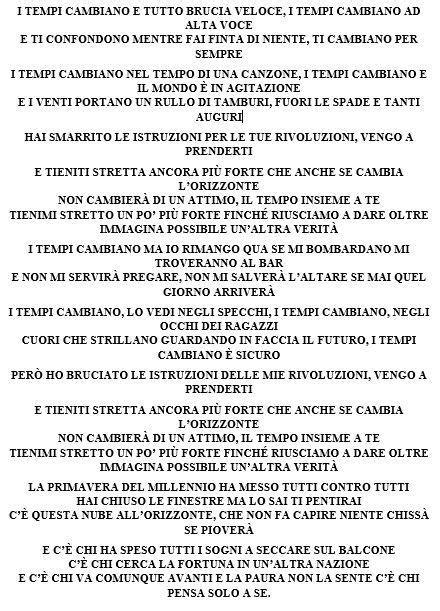 Giro Di Notte Testo by Ligabue Firma Il Nuovo Singolo Dei Negrita I Tempi