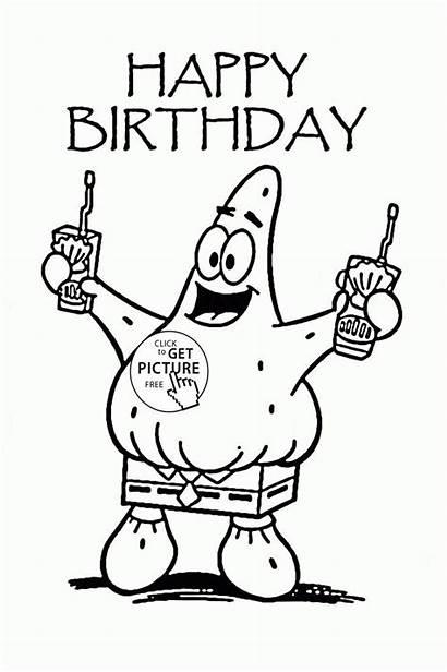 Coloring Birthday Happy Pages Aunt Printable Cartoon
