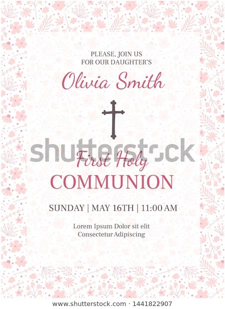 Holy Communion Invitation Design Template Christianity