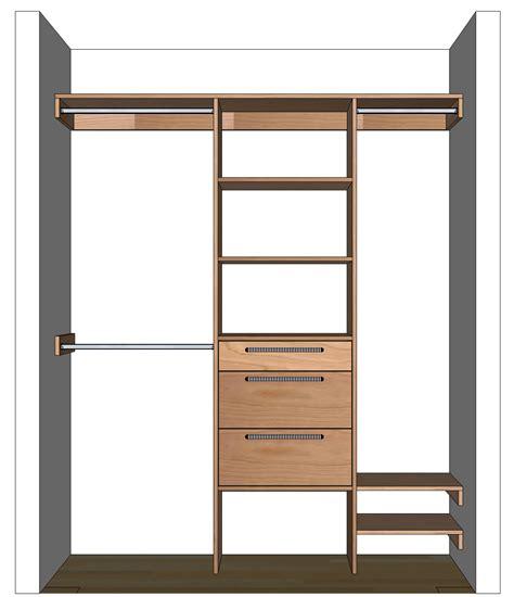 Diy Closets by Diy Closet Organizer Plans For 5 To 8 Closet