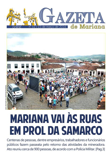 Gazeta de mariana online 52 by Prefeitura Mariana - Issuu