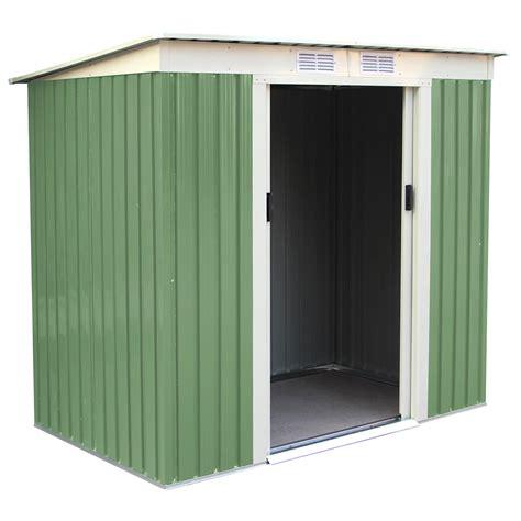 Metal Storage Shed Doors by Charles Bentley Green 6ft X 4ft Metal Garden Door