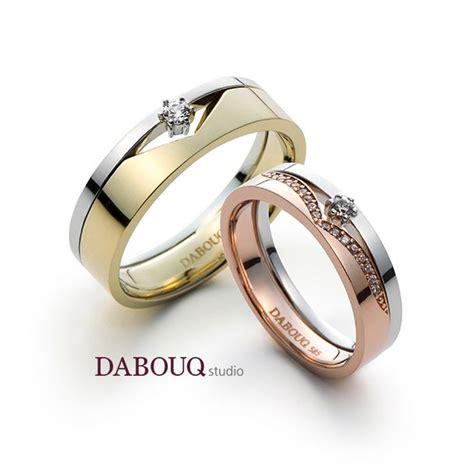 dabouq studio couple ring dr0003 simple dabouq
