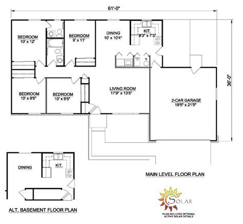 single 4 bedroom house plans simple single ranch house plans escortsea