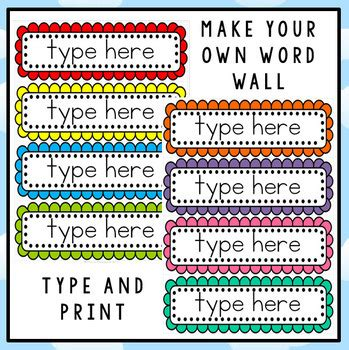 editable word wall template  clever classroom tpt