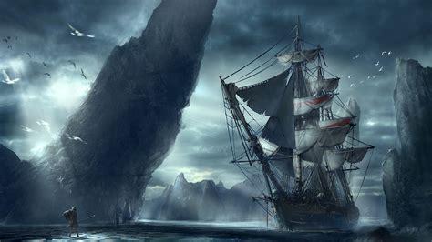 Image Warriors Fantasy Ships Sailing Fantastic world 3840x2160