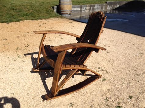 rocking chair wine barrel furniture plans  woodworking