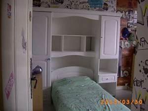 Pont De Lit Blanc : chambre ado lit pont blanc bon tat meubles d coration lits d 39 enfant lyon reference ~ Teatrodelosmanantiales.com Idées de Décoration