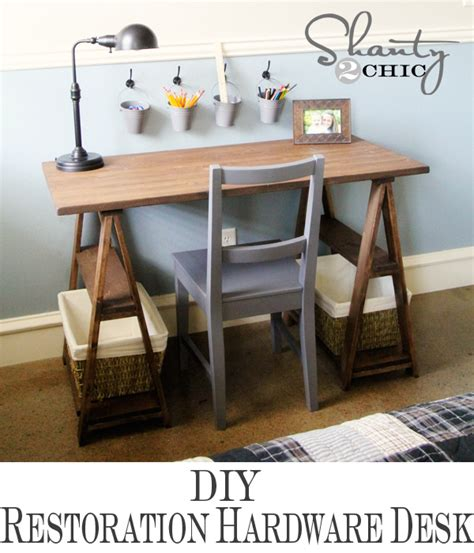 restoration hardware fulton desk restoration hardware diy desk shanty 2 chic