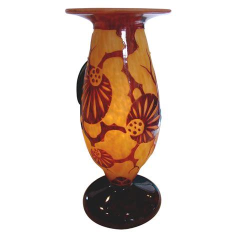 le verre francais le glass cameo vase schneider le verre francais d 233 cor epinette from