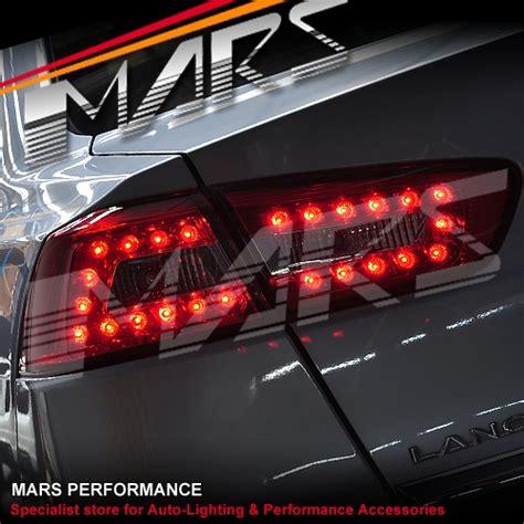 evo x tail lights smoked red led tail lights for mitsubishi lancer cj evo