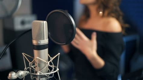 Professional Microphone In The Recording Studio Background