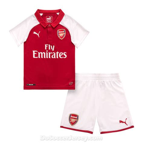 arsenal  home kids soccer kit children shirt