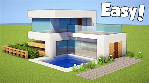 minecraft   build  small easy modern house tutorial  razorxgamer