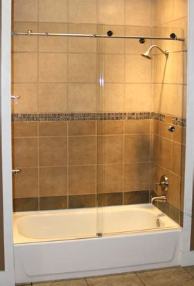 tub shower doors skyline series sky 3 8 glass three 1 190 inch rollers