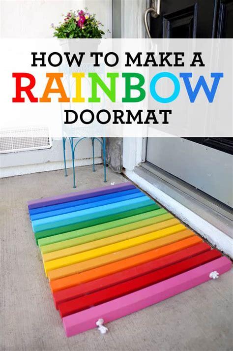 Make A Doormat by Diy Rainbow Doormat Tutorial Popsicle