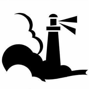 Beacon clipart black and white