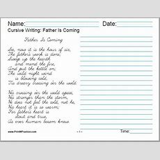 50+ Cursive Writing Worksheets ⭐ Alphabet, Sentences, Advanced