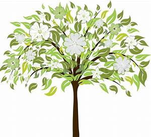 Baum Mit Blüten : sch ne sommer baum mit bl ten blumen vektor illustration vektorgrafik colourbox ~ Frokenaadalensverden.com Haus und Dekorationen