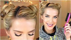 Space Buns Hair Tutorial Cute Easy YouTube