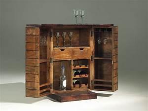 Pallet mini bar wooden minibar art deco pallets for Inexpensive home bar furniture