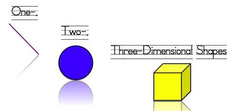 One, Two, Threedimensional Shapes
