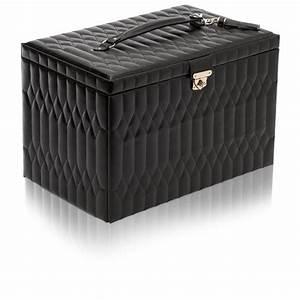 Boite A Bijoux Cuir : boite bijoux extra large cuir noir caroline wolf ocarat ~ Teatrodelosmanantiales.com Idées de Décoration