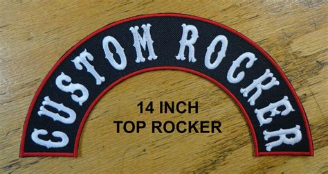 Custom Embroidered Patch 14 Inch Half Arch Rocker Top Or