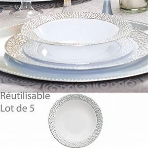 Lot De Vaisselle Pas Cher : assiette creuse plastique jetable bol reutilisable ~ Teatrodelosmanantiales.com Idées de Décoration
