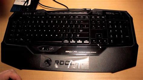roccat isku fx multicolour gaming keyboard un boxing