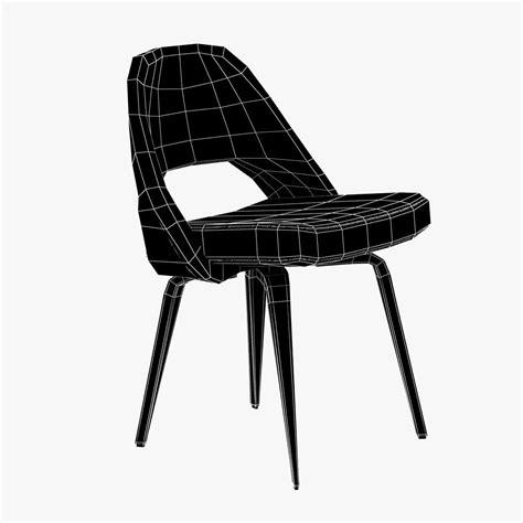 saarinen executive side chair 3d model max obj 3ds fbx