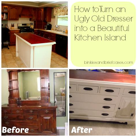 how to turn a dresser into a kitchen island how to turn a dresser into a kitchen island 9935