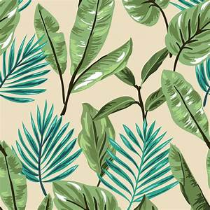 Tropical Leaves Wallpaper | Wall Decor