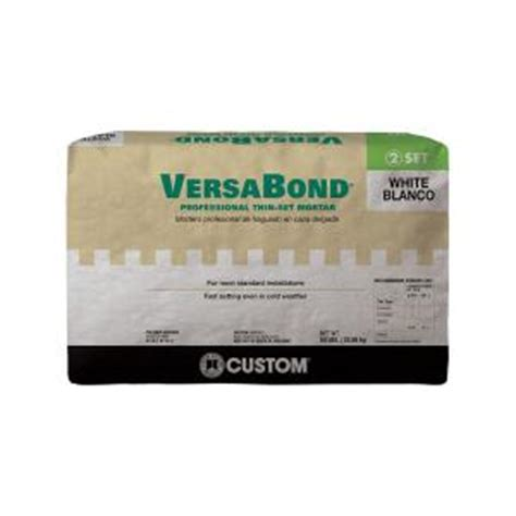 Versabond Thinset For Glass Tile by Custom Building Products Versabond White 50 Lb Fortified