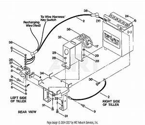 Troy Bilt 5151 Pony V Parts Diagram For Battery Mounting