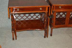 Mid century mahogany coffee tables set of 2 for sale at for Mahogany coffee table set