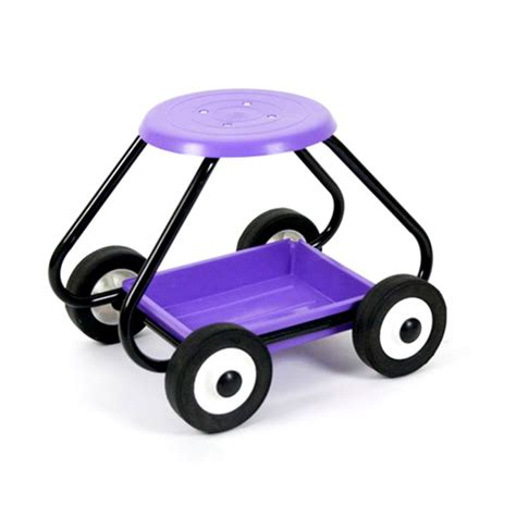 Garden Stools With Wheels - garden stool on wheels lilac gardening tools for the