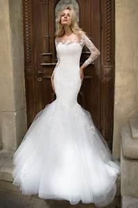 robe de mariee sirene manches longues oksana mukha paris With robe de mariée sirene dentelle manche longue